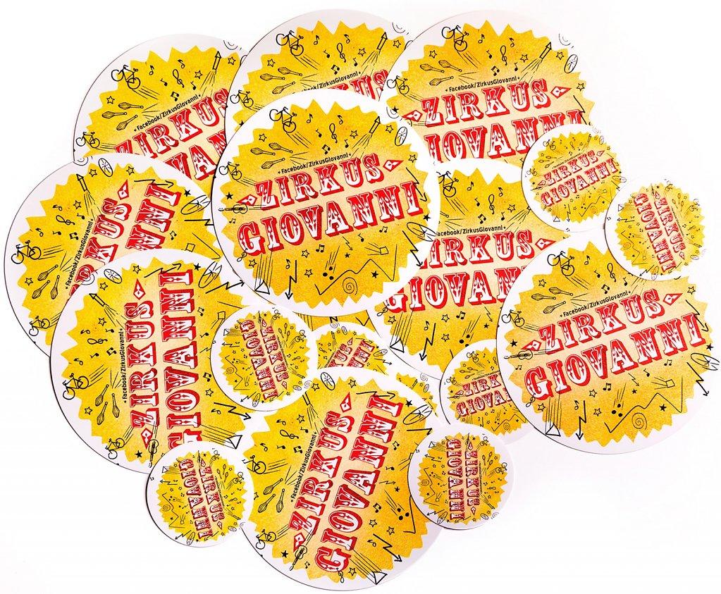 Sticker Zirkus Giovanni