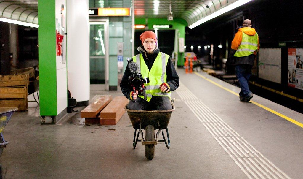 foto taken by Martin Anger/ Benedikt bei der Arbeit